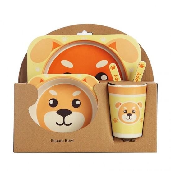 Bamboo fiber children's tableware Puppy