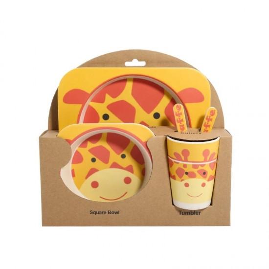 Bamboo fiber children's tableware Giraffe