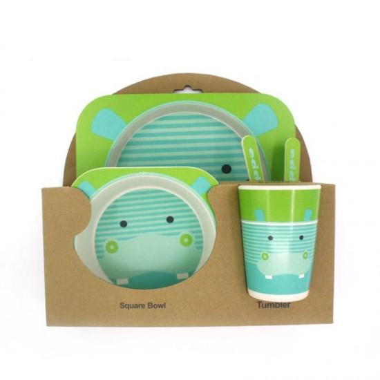 Bamboo fiber children's tableware Hippo