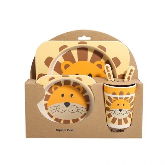 Bamboo fiber children's tableware Lion