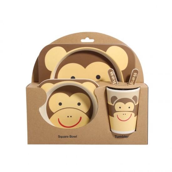Bamboo fiber children's tableware Monkey