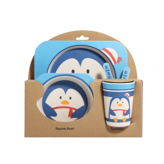 Bamboo fiber children's tableware Penguin