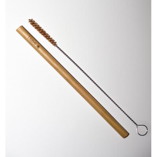 Комплект 4 бамбукови сламки с четка за почистване