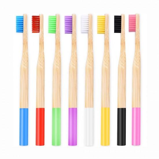 Бамбукова четка за зъби права