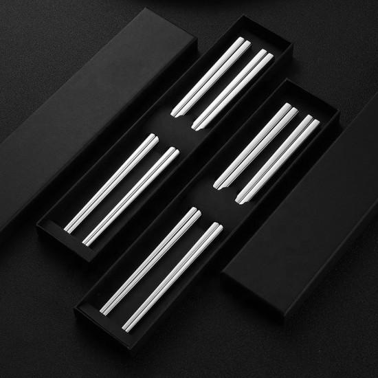 304 stainless steel chopsticks 2 pairs