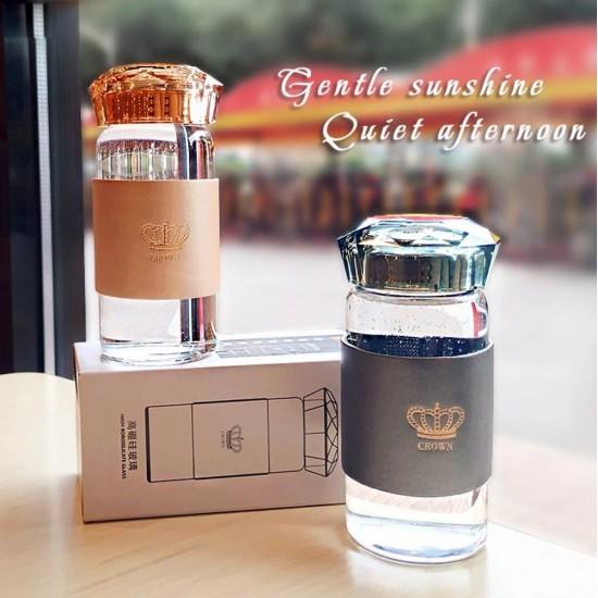 Crown glass bottle