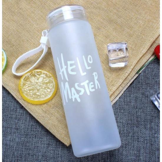 Fitness glass bottle