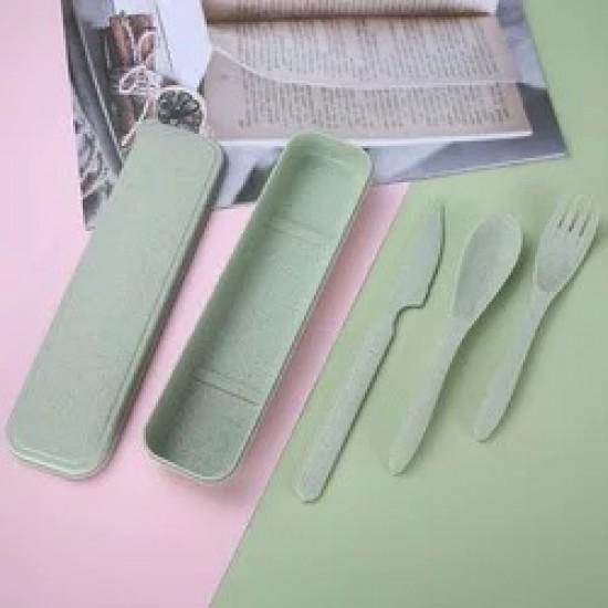 Degradable wheat plastic Children cutlery set